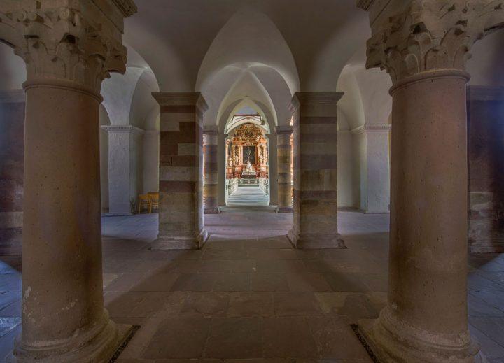 Welterbe Westwerk Corvey ·geplant: Multimedia-Projektion auf Trennscheibe zwischen Eingangshalle und Kirchenraum